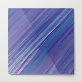 Acrylic brush strokes background - purple and blue Metal Print