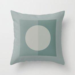 Square Peg Green Throw Pillow