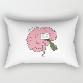 The Problem with my Brain - Friday  Rectangular Pillow