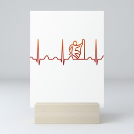 Rock Climbing Heartbeat Mini Art Print