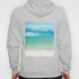 Blue Turquoise Tropical Sandy Beach Hoody