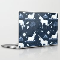 the last unicorn Laptop & iPad Skins featuring The Last Unicorn by Sophie Eves
