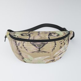 Gepard Jungle - Tropical Plants Mid Century Green Color Fanny Pack
