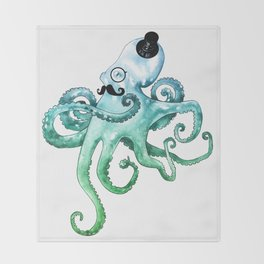 Dapper Octopus Throw Blanket