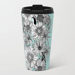 Penguins & Flowers Travel Mug