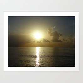 seaside sunrise Art Print