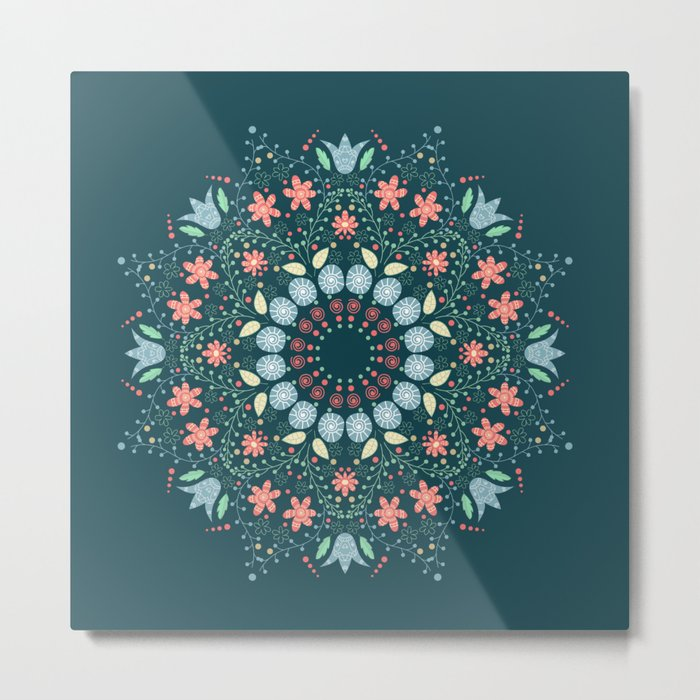 Flower wind Metal Print