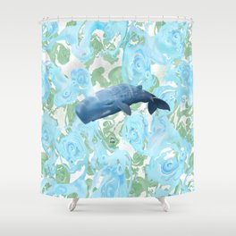 Majestic giant of the oceans Shower Curtain