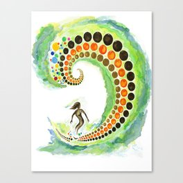 Surf Circles  Canvas Print