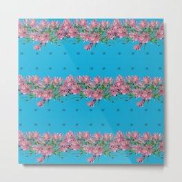 Pattren Flowers Metal Print