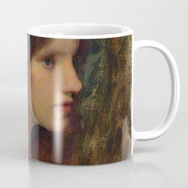 "John William Waterhouse ""Female head study for 'A Naiad'"" Coffee Mug"