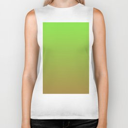 Color gradient 4. Green and brown.abstraction,abstract,minimalism,plain,ombré Biker Tank