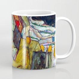 Egon Schiele Crescent of Houses II Coffee Mug