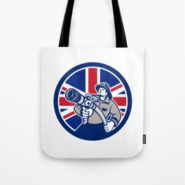 British Firefighter Union Jack Flag Icon Tote Bag