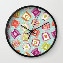 Ugly Christmas Sweaters Wall Clock