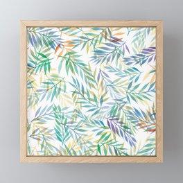 Watercolour Ferns   Tropical Colours Framed Mini Art Print