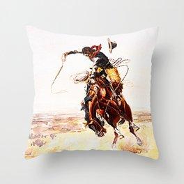 A Bad Hoss Throw Pillow