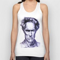 clint eastwood Tank Tops featuring Clint Eastwood by Bronsolo Illustration