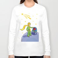 the little prince Long Sleeve T-shirts featuring Little prince by Dennis Morgan