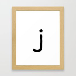 J Monogram (Hand 2) Framed Art Print