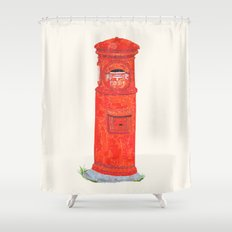 Red Mailbox Shower Curtain