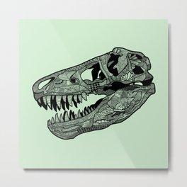 Jurassic Skull Metal Print