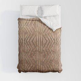 Copper Gold Geometric Pattern Comforters