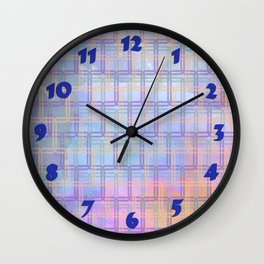 Rounded Squares in Pastel Wall Clock