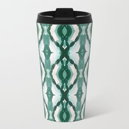 Watercolor Green Tile 1 Travel Mug