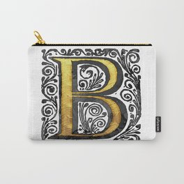 Beautiful Monogram Letter 'B' Vintage Style Carry-All Pouch