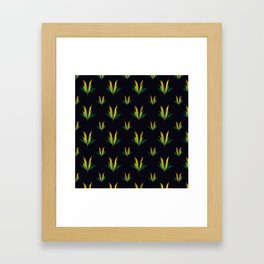 Linear flowers Framed Art Print
