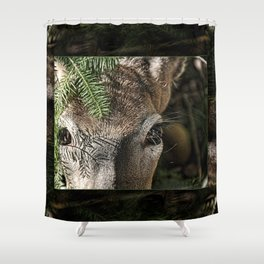 Whitetail Doe Camouflaged Deer Shower Curtain