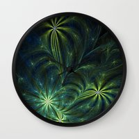weed Wall Clocks featuring Weed by Eli Vokounova