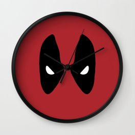 Deadpool Mask Wall Clock