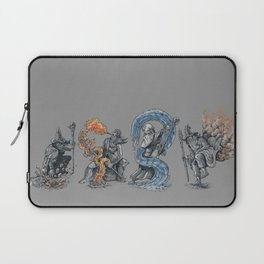 earth - fire - water - (bad) air Laptop Sleeve