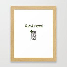 Gin & Tonic Framed Art Print