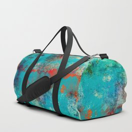 Aztec Turquoise Stone Abstract Texture Design Art Duffle Bag