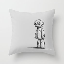 Standing alone. I guess. Throw Pillow