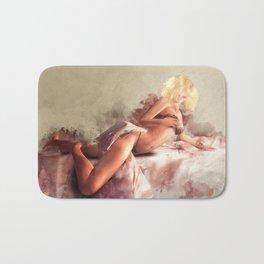 Satin & Lace Bath Mat