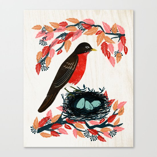 Robin's Nest by Andrea Lauren  Canvas Print