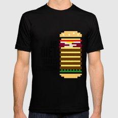 Diet Burger MEDIUM Black Mens Fitted Tee