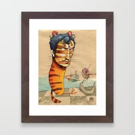 EASY, TIGER Framed Art Print