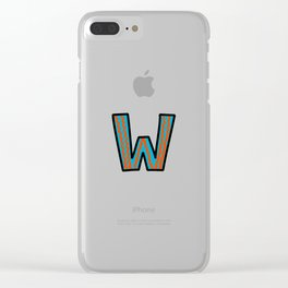 Uppercase Letter W Clear iPhone Case