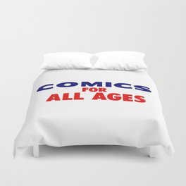 Comics for All Ages Duvet Cover