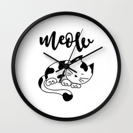 Cat Meow Wall Clock