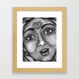 Wisdom Keeper Black and White #22 (Grace) Framed Art Print