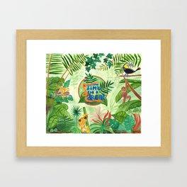 Medilludesign Ecotherapy Jungle Framed Art Print