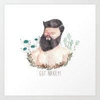 Get Nakey! Art Print