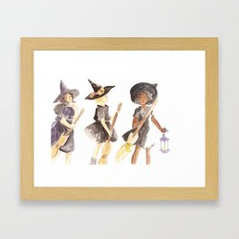 Three Witches Framed Art Print