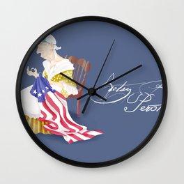 Betsy Ross Perot Wall Clock